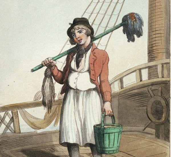 Na pokładach statków Królewskiej Marynarki Wojennej niemal obsesyjnie dbano o czystość.