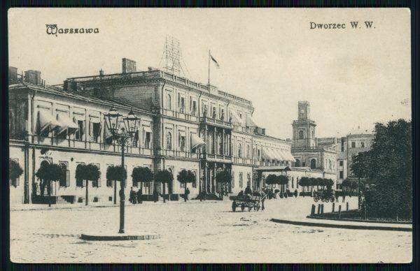 Dworzec wiedeński w Warszawie na pocztówce sprzed 1913. To tutaj 10 listopada zajechał pociąg wiozący Józefa Piłsudskiego