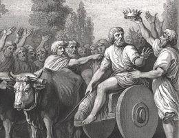 Kiedy tak naprawdę rozpoczęła się historia Polski? Na ilustracji koronacja Piasta.