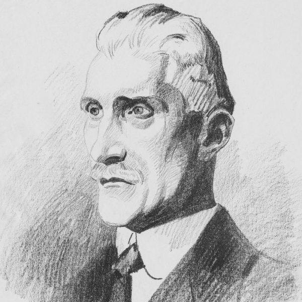 Ignacy Daszyński na rysunku Stanisława Lentza z 1919 roku