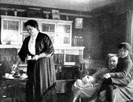 Józef Konrad Korzeniowski z żoną Jessie i synem Borysem (fot. domena publiczna)
