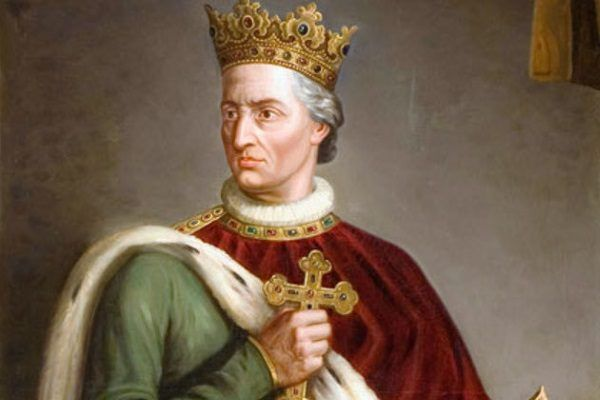 Władysław Jagiełło na obrazie Michała Godlewskiego.
