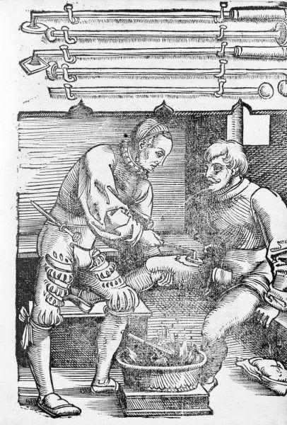 Kauteryje, czyli wypalanie ran w XVI wieku (fot. domena publiczna)