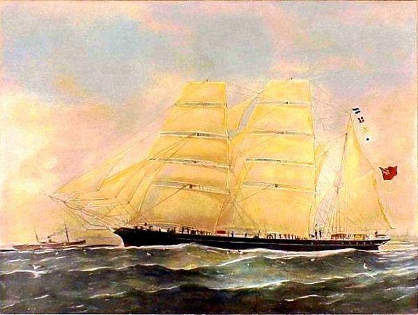 """Konrad Korzeniowski pływał na wielu statkach. Był między innymi kapitanem widocznego na ilustracji """"Otago""""."""