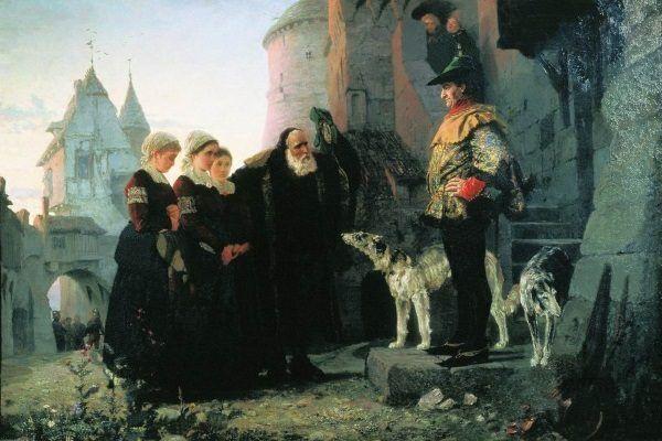 Prawo pierwszej nocy na obrazie Wasilija Polenowa.