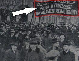 Wiec polskich sufrażystek w Krakowie w 1911 roku