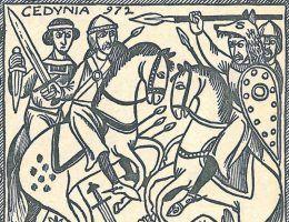 """Bitwa pod Cedynią obrosła całym szeregiem mitów. Powyżej ilustracja z książki """"Polskie triumfy""""."""