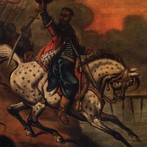Czarniecki pod Warką na obrazie Juliusza Kossaka.