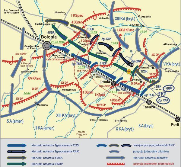Plan bitwy o Bolonię.