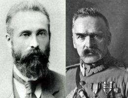Bronisław Piłsudski i jego bardziej znany brat Józef po prawej (fot. domena publiczna)