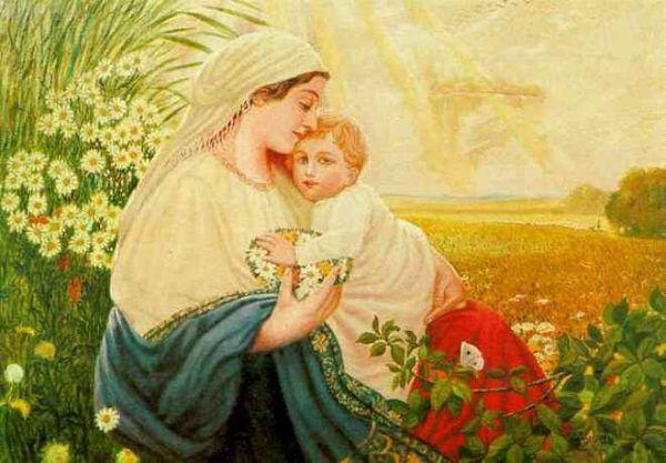 Hitler rzadko malował ludzi, co było jednym z głównych powodów, dla których nie przyjęto go na Akademię Sztuk Pięknych. Od postaci, takich jak Maryja z Jezusem na tym obrazie, wolał uwieczniać detale architektoniczne.