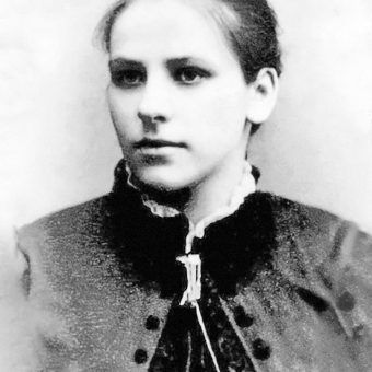 """O Marii mówiono: """"Piękna pani"""" . Do dzisiaj przetrwały tylko jej pojedyncze fotografie z lat młodzieńczych, gdy ukuto ten przydomek."""