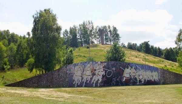 Monument upamiętniający rzekome miejsce bitwy z 972 roku