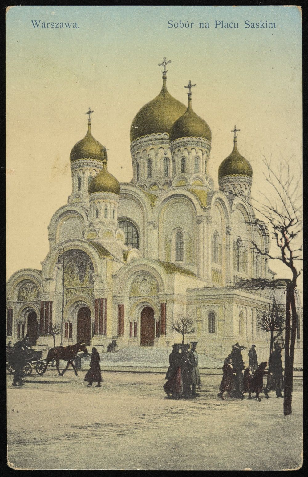 Sobór na Placu Saskim. Symbol rosyjskiego ucisku nad Wisłą