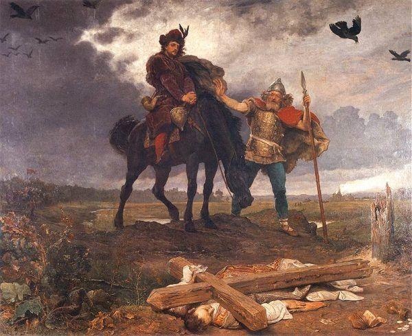 Kazimierz wrócił do zniszczonego kraju na czele 500 rycerzy.