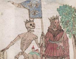 Królowie tak jak inni śmiertelnicy biorą udział w tańcu śmierci - przypominali średniowieczni ilustratorzy.