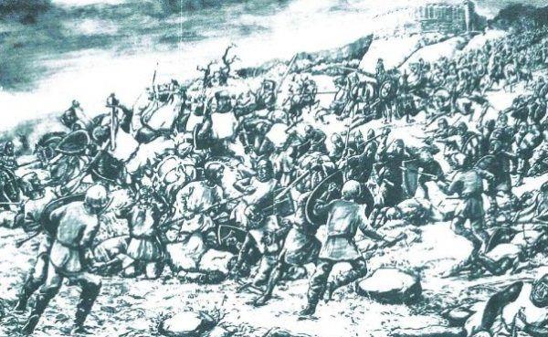 Bitwa pod Cedynią na rysunku L. Piesickiego