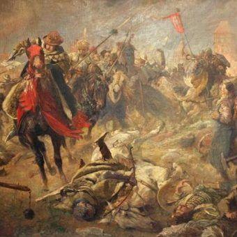 Pod Chojnicami Krzyżacy wzięli krwawy odwet za Grunwald. Na ilustracji obraz Fritza Grotemeyera