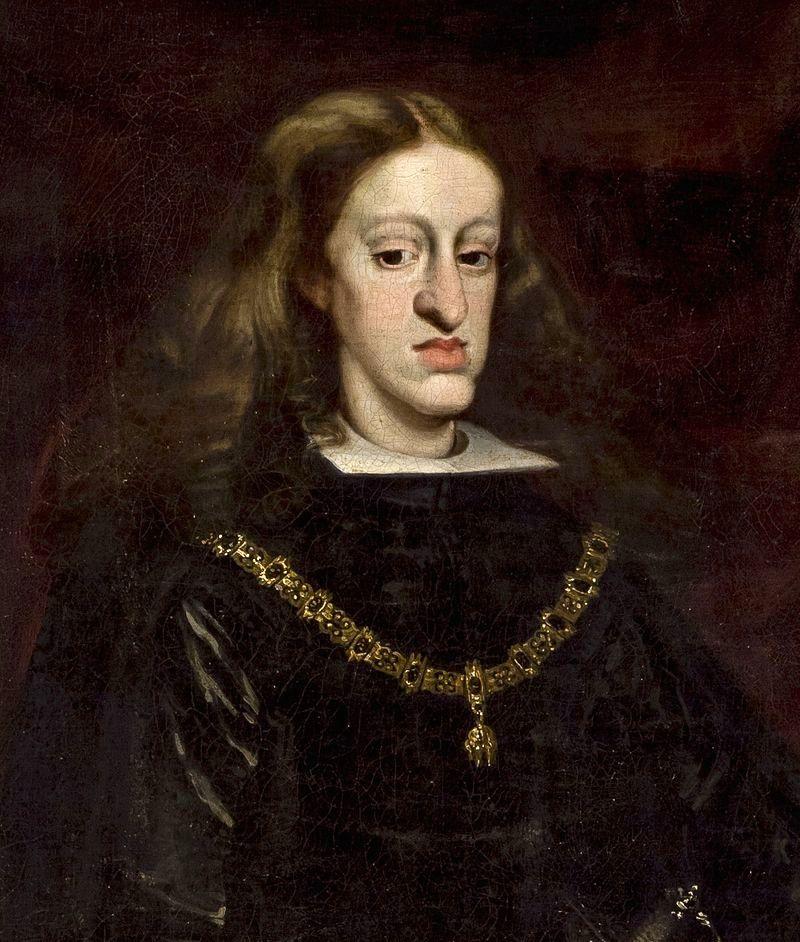 Karol II Habsburg, u którego skumulowały się niepożądane cechy genetyczne (fot. domena publiczna).