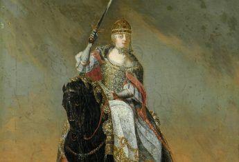 Maria Teresa na koniu (fot. domena publiczna)