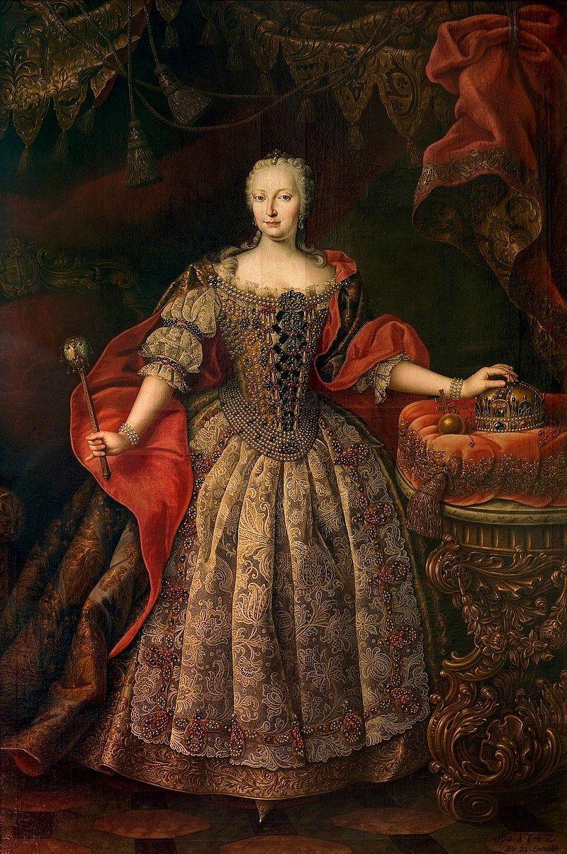 Maria Teresa w węgierskiej sukni koronacyjnej (fot. domena publiczna)