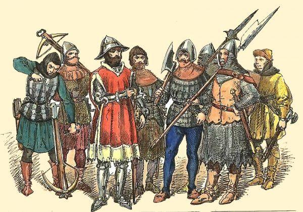 W pierwszej fazie bitwa pod Chojnicami przebiegała pomyślnie dla Polków, ale sytuacja się odwróciła. Na ilustracji polskie wojska z drugiej połowy XV wieku według Jana Matejki.