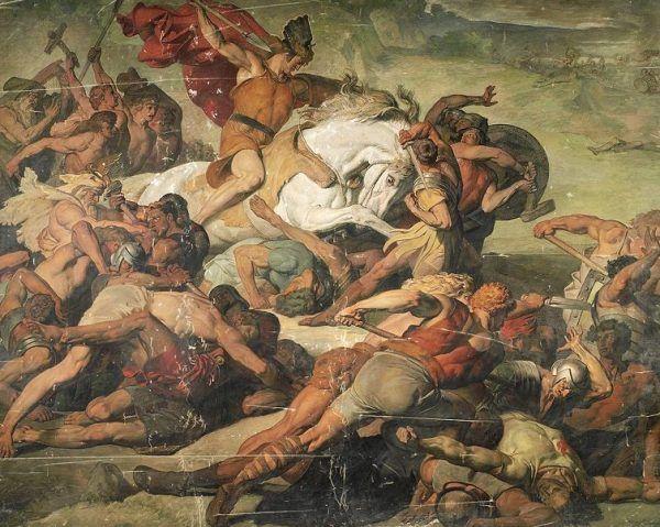 Legioniści zostali otoczeni przez plemiona germańskie.