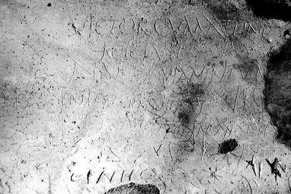 Źródłem wiedzy na temat starożytnych przekleństw jest pozostawione przez mieszkańców Wiecznego Miasta graffiti.