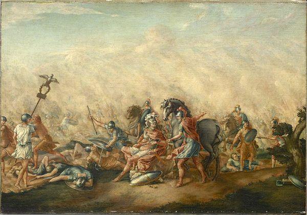 Nieprzemyślana taktyka i wzajemne animozje dowódców doprowadziły do klęski. Paulus także zginął na polu bitwy.