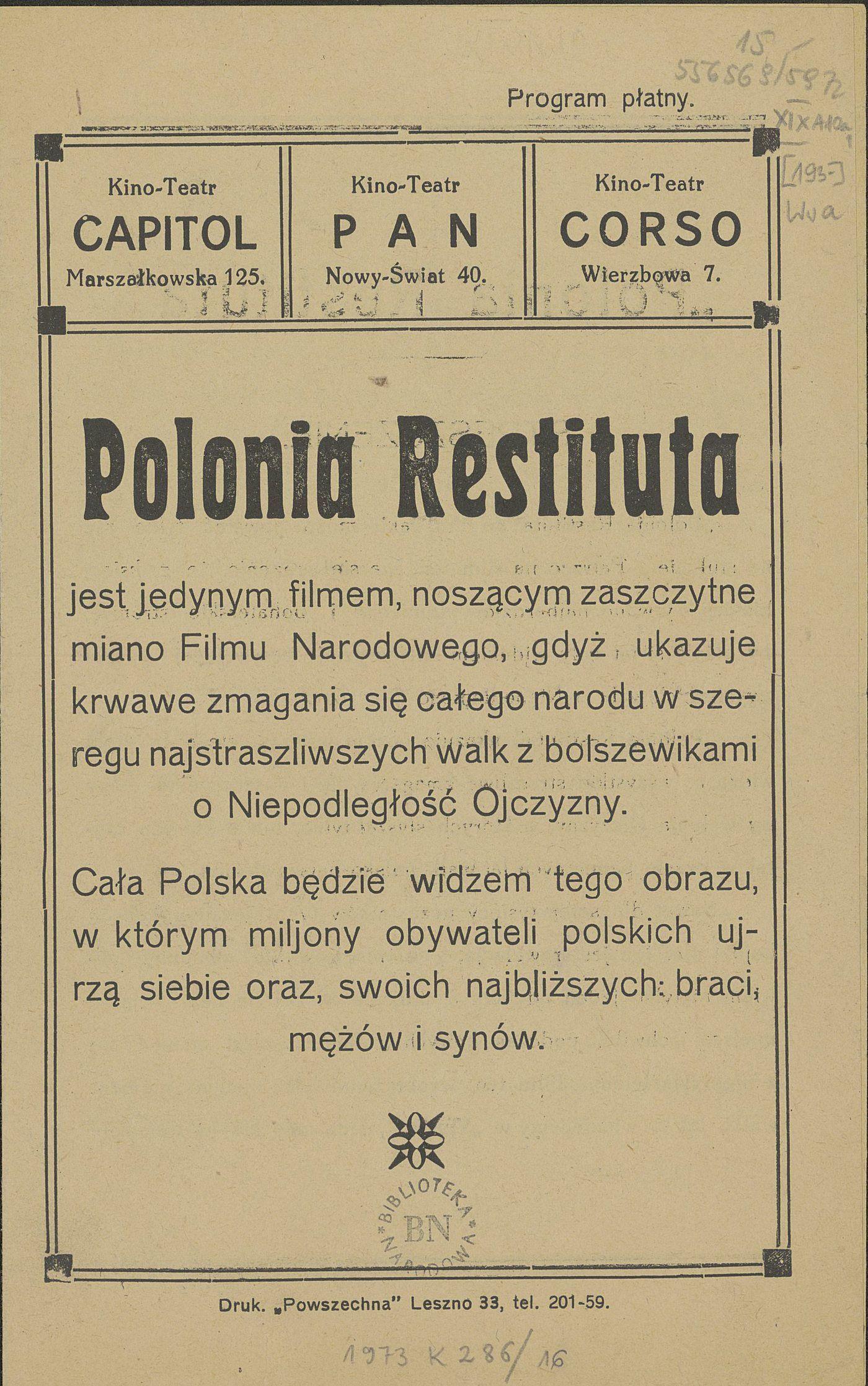 Afisz reklamowy filmu