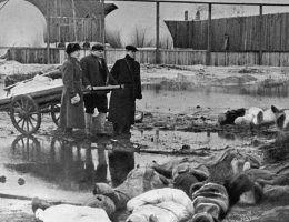 Cmentarz Wołkowo w Leningradzie. Każdego dnia w mieście umierały tysiące ludzi (fot. RIA Novosti archive, image #216, Boris Kudoyarov, lic. CC-BY-SA 3.0)