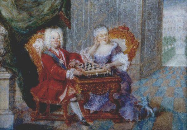 August III był miernym królem, ale dobrym i kochającym małżonkiem. Na portrecie z żoną Marią Józefą.