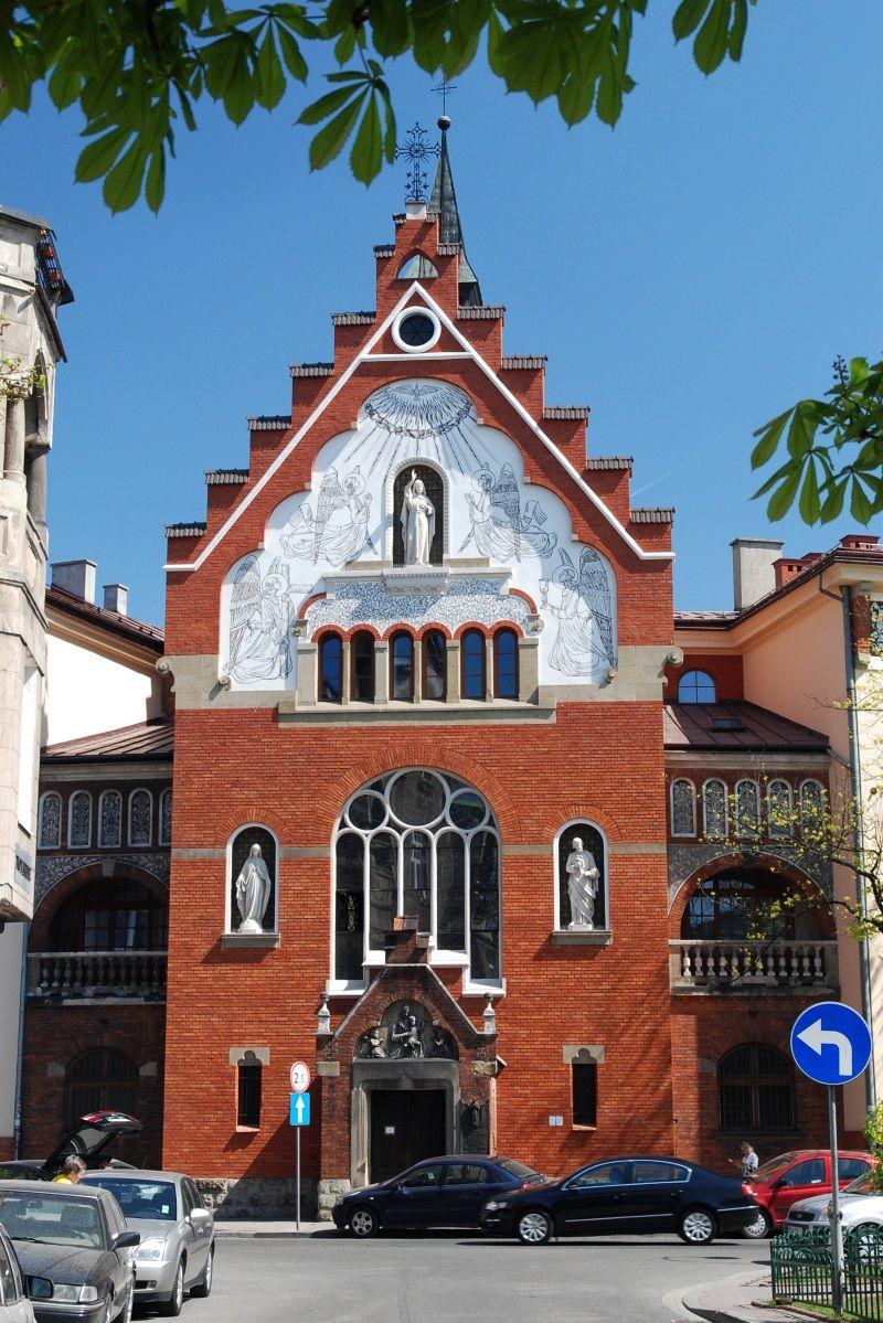 Kościół Najświętszego Serca Pana Jezusa w Krakówie przy ulicy Garncarskiej. To tu Karol Kot zaatakował po raz pierwszy (fot. Cancre, lic. CC BY-SA 4.0)