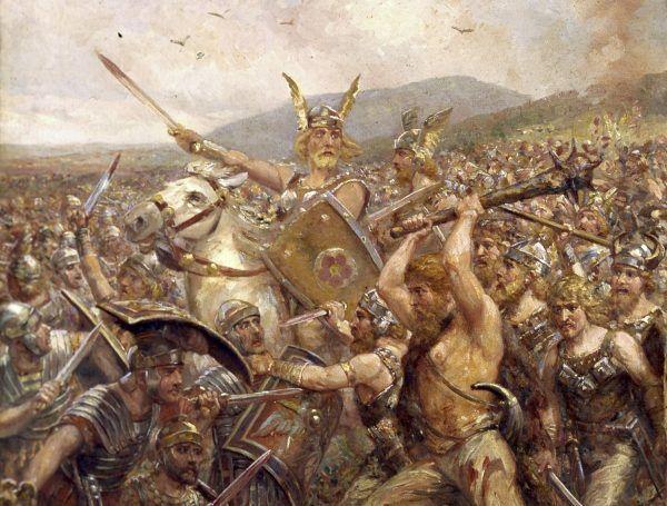 W Lesie Teutoburskim zginęło 20 tysięcy rzymskich legionistów. Arminiusz triumfował.