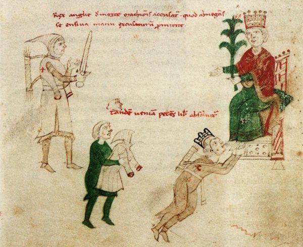 Ryszard Lwie Serce u stóp cesarza Henryka IV.