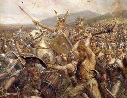 Podczas bitwy w Lesie Teutoburskim zginęło około 20 tysięcy rzymskich żołnierzy.