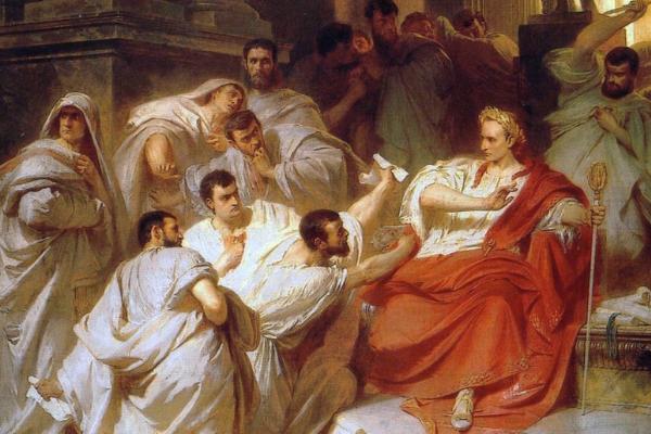 W spisku na życie Cezara mogło brać udział nawet 80 senatorów.