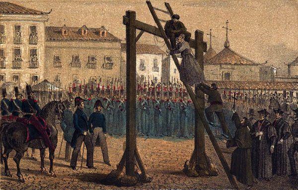 Egzekucja przez powieszenie sprawiała sporo problemów – i prowokowała skazańców do wypowiadania dziwacznych ostatnich słów (ilustracja poglądowa).