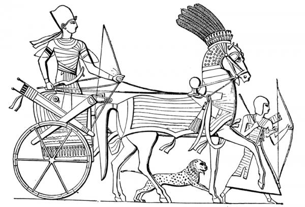 Koło usprawniło choćby manewry na samym polu bitwy. Na ilustracji egipski lekki rydwan.