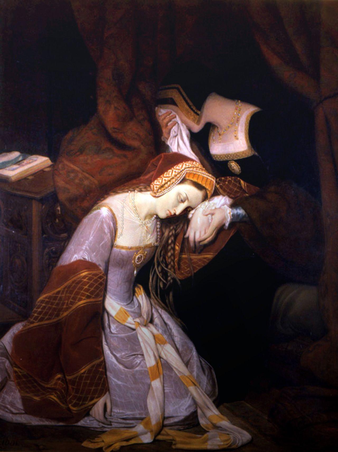 Maria nie zamierzała podzielić losy Anny Boleyn, dlatego ani myślała o ślubie z Henrykiem VIII. Na ilustracji obraz Edouarda Cibota przedstawiający Annę Boleyn w Tower.