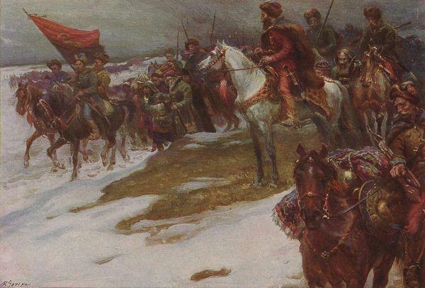 Czarniecki zaczynał swoją karierę w oddziale Lisowczyków.