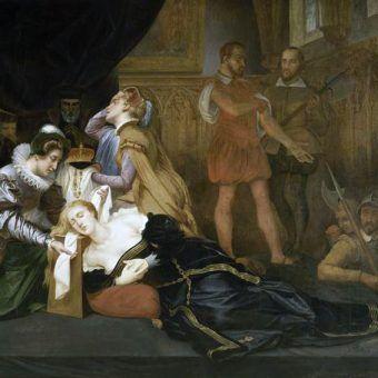 Egzekucja Marii Stuart na XIX-wiecznym obrazie pędzla Abela de Pujola.