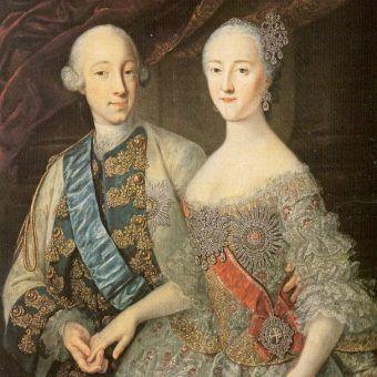 Katarzyna II ze swoim mężem, Piotrem III Romanowem.
