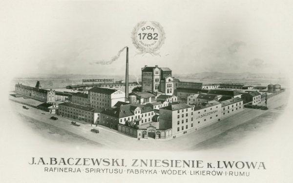 Dopiero na przełomie XVIII i XIX wieku na polskich ziemiach pojawili się poważni producenci wódki. Jednym z pierwszych była lwowska firma J.A. Baczewski.