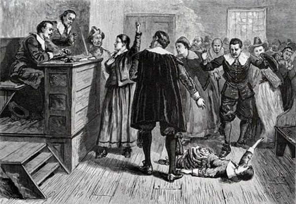 Psychoza strachu przed czarną magią panowała nie tylko w Europie. Również za oceanem sądzono i zabijano domniemane czarownice (na il. proces w Salem).