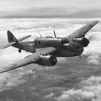 Samoloty odegrały ogromną rolę w czasie II wojny światowej. Na zdjęciu brytyjski bombowiec Bristol Beaufort.