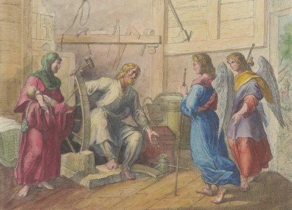 Zwiastunem upadku Popiela był incydent podczas postrzyżyn, kiedy nie wpuścił on dwóch zesłanych z niebios gości. Ostatecznie znaleźli oni gościnę u Piasta oracza.