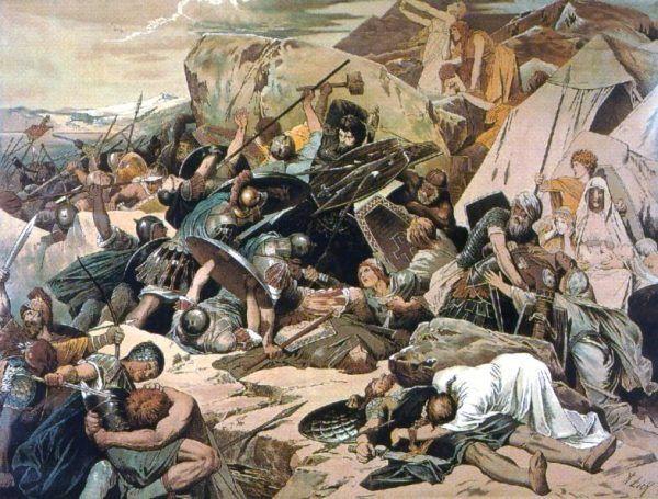 Bizantyńczycy pobili Ostrogotów pod Lactarius.