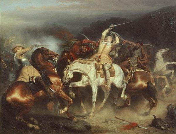 Gustaw Adolf dwukrotnie otarł się o śmierć w czasie walk z Koniecpolskim.