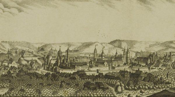 Lwów jako największe miasto w Galicji i Lodomerii po pierwszym zaborze nie miał konkurencji. Na ilustracji widok miasta z początku XIX wieku.